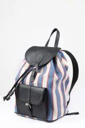 Black Leather Bag Pack