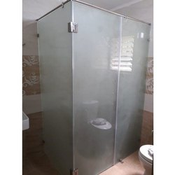 Hinged Plain Shower Glass Door, For Home,Hotel residental, Thickness: 10 Mm
