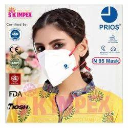 Ear loop N 95 face mask