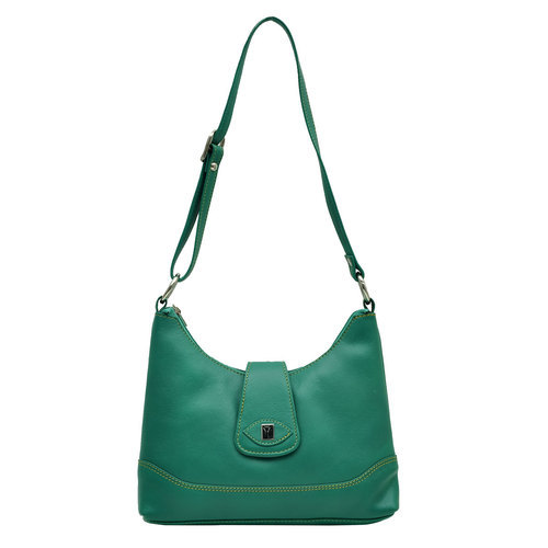 Hawai Women Casual Green Genuine Leather Sling Bag ec2c34f789740