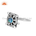 Ethiopian Opal Gemstone Vintage Design Oxidized Silver Ring Jewelry