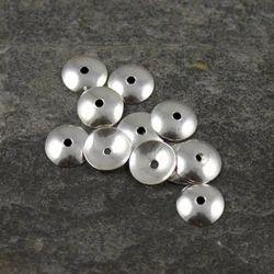 Silver Plain Bead Cap