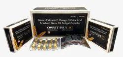 Natural Vitamin E,Omega 3 Fatty ACid and Wheat Germ Oil Softgel Capsules
