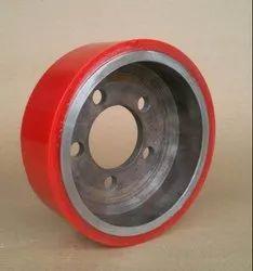 Red PU Pallet Truck Wheel