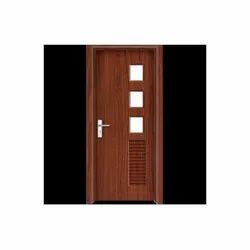 Hinged Glossy PVC Wooden Finish Door, For Home, Interior
