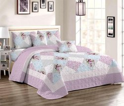 VIPL Floral Cotton Quilt Bedding Set, Size: 104 W X 96 Inch ( Quilt Size ), for Home, Hotel