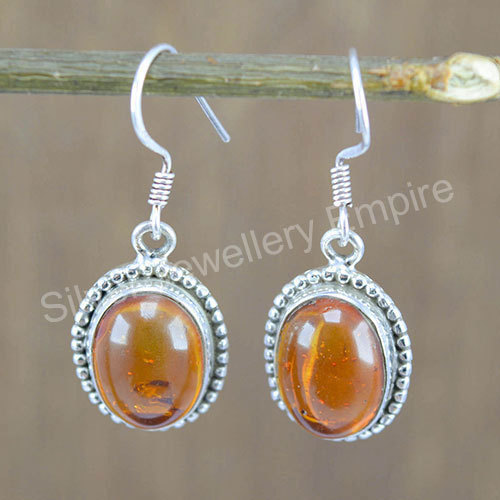 825bc9f6b Silver Jewelry Doctor 925 Sterling Silver Amber Gemstone Handmade Jewelry  Earring
