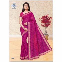 1406 Ladies Designer Cotton Saree
