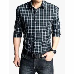 Cotton Collar Neck Casual Man Shirt