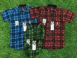 Cotton Party Wear Kids Check Shirt, Packaging Type: Roll