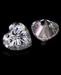 DEF VVS Heart Moissanite Diamond