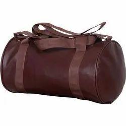 Brown Leather Gym Bag