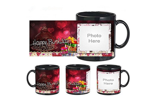 SnapGalaxy Happy Birthday Message Personalized Mug Size 325 Ml