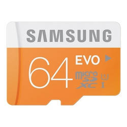 64 GB Samsung EVO Memory Card, Grade 3 Class 10, for Mobile Phones