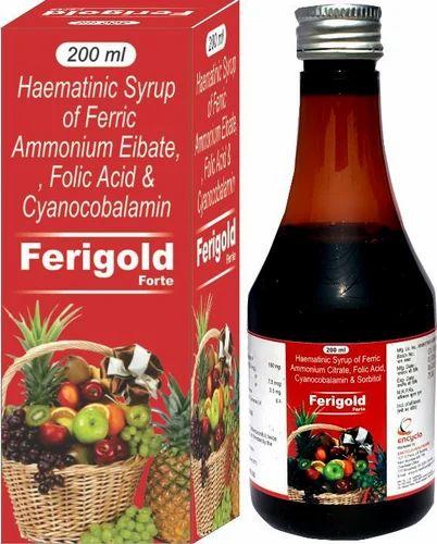 Haematnic Syrup of Ferric Ammonium Eibate Folic Acid & Cyanocobalamin