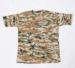 Half Sleeve Camouflage T-Shirt