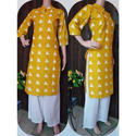 Cotton Stitched Printed Kurtis, Size: L