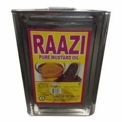 Raazi 15 kg Pure Mustard Oil, Packaging Type: Tin