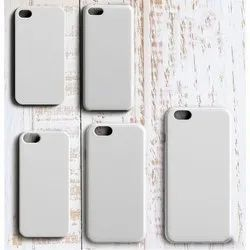 White Plastic 3D Sublimation Phone Covers, Packaging Type: Packet