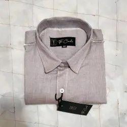 Long Sleeve Regular Fit Men's Chambray Plain Shirt