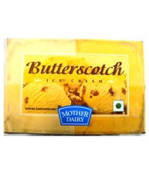Mother Dairy Butterscotch Ice Cream, Packaging: Packet