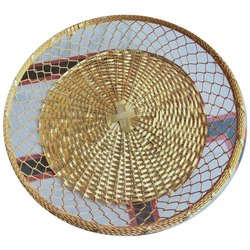 Golden Aluminium 20 Inch Round Metal Basket
