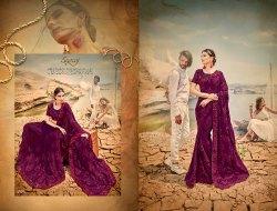 Designer Fancy Purple Colour Party Wear Saree