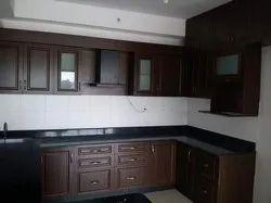 Modern U Shape Wooden Modular Kitchen