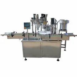 Twin Head Powder Filler Machine