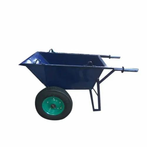 MS Double Wheel Barrow, For Industrial
