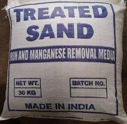 棕色处理砂,包装类型:塑料袋,包装尺寸:30kg袋
