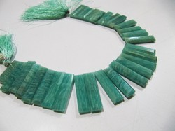 AAA Quality Natural Amazonite Long Baguette Shape Beads