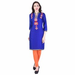 Ladies Blue Rayon Kurti