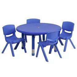 Kids Plastic Table Chairs Set