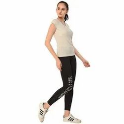 Ladies Black Free Style Running Track Pant