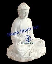 White Stone Buddha Statue