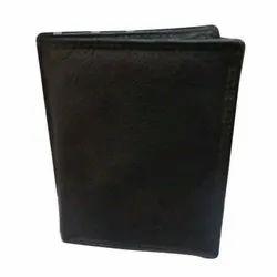 Black Leather Business Portfolio, Rectangular