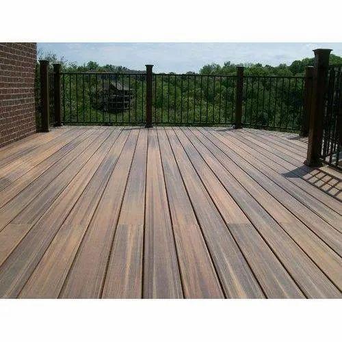 Glossy Brown Ipe Wood Laminate Flooring, Outdoor Laminate Flooring