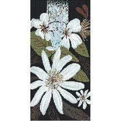 Flowers Mural Mosaic Tile