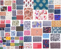 44-45 Cotton Screen Printed Fabric, GSM: 100-150