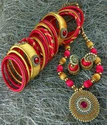 Silk Thread Necklace Jwellery
