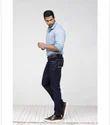 Knit Slim Slub Textured Casual Shirt