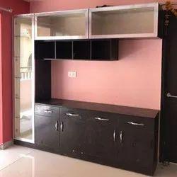 Brown Teak Wood Wooden Kitchen Cabinet