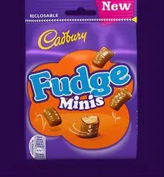 Cadbury Fudge Minis Chocolate, Packaging Type: Packet