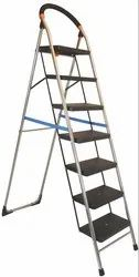 Parasnath S.S Steel Chrome-Milano Heavy Folding Ladder with Wide Steps