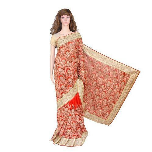 04edf5ca02022 Ladies Printed Saree With Blouse Piece