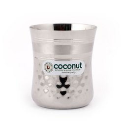 Silver Coconut Stainless Steel A14 Nexa Polished Glass for Home
