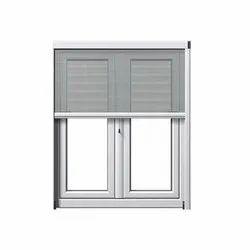 White Aluminium Mesh Window