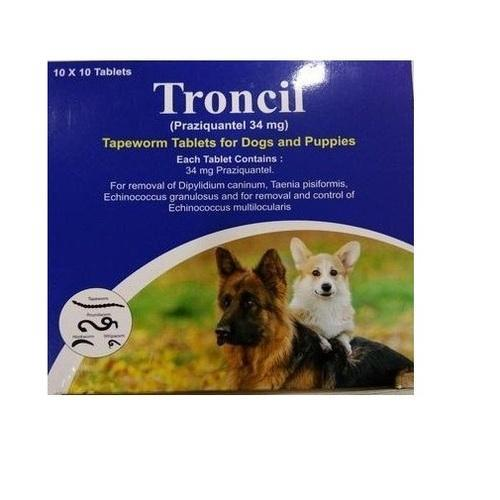 Troncil ( Praziquantel 34 Mg ),Packaging Size: 10 X 10