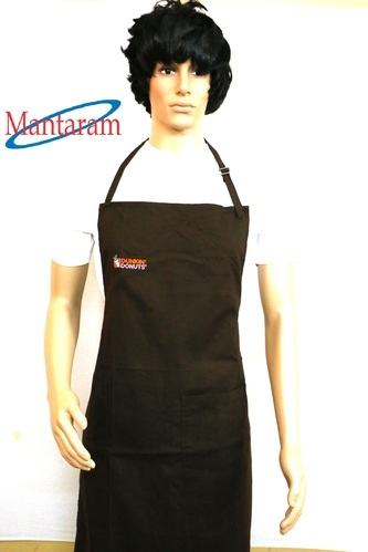 Cotton Plain Apron, Size: Extra Large And